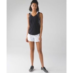 lululemon Run With The Sun Tank Black Size 8